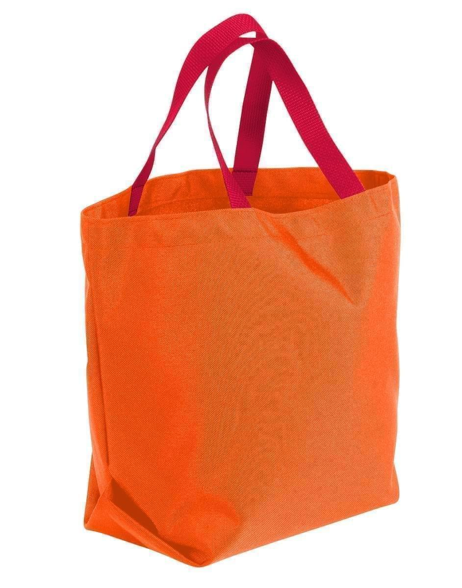 USA Made Poly Convention Expo Tote Bags, Orange-Red, 2BAD31UAX2