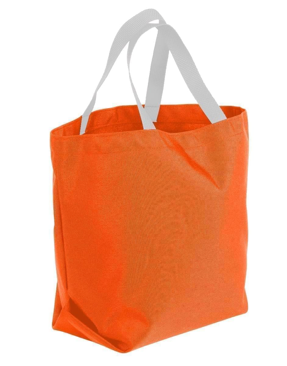 USA Made Poly Convention Expo Tote Bags, Orange-White, 2BAD31UAX4