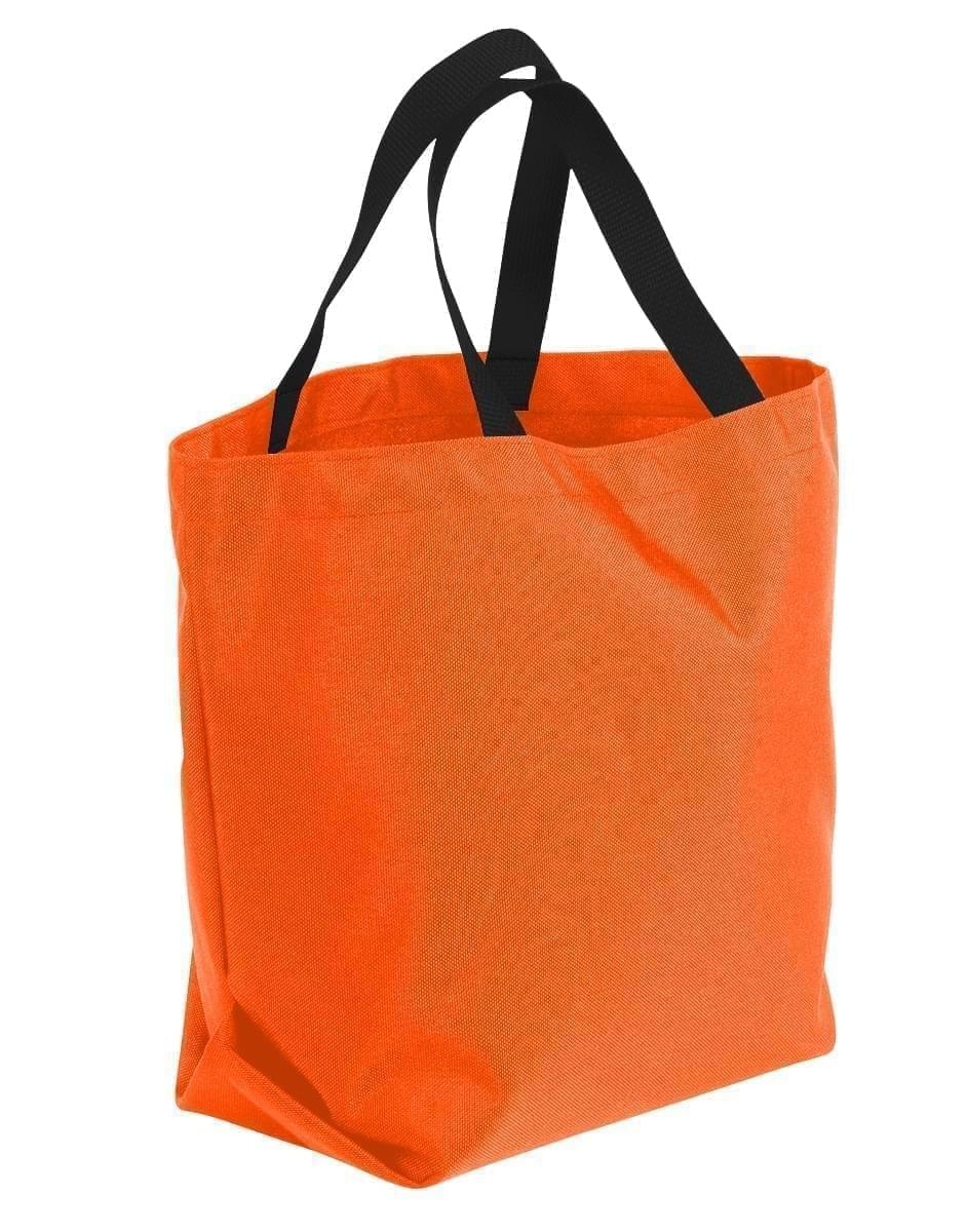 USA Made Poly Convention Expo Tote Bags, Orange-Black, 2BAD31UAXR