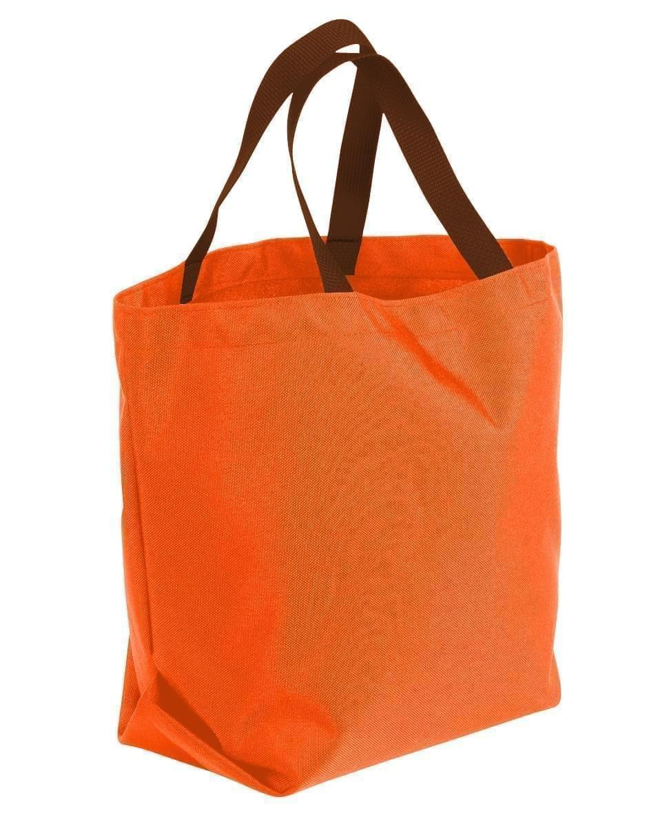 USA Made Poly Convention Expo Tote Bags, Orange-Brown, 2BAD31UAXS