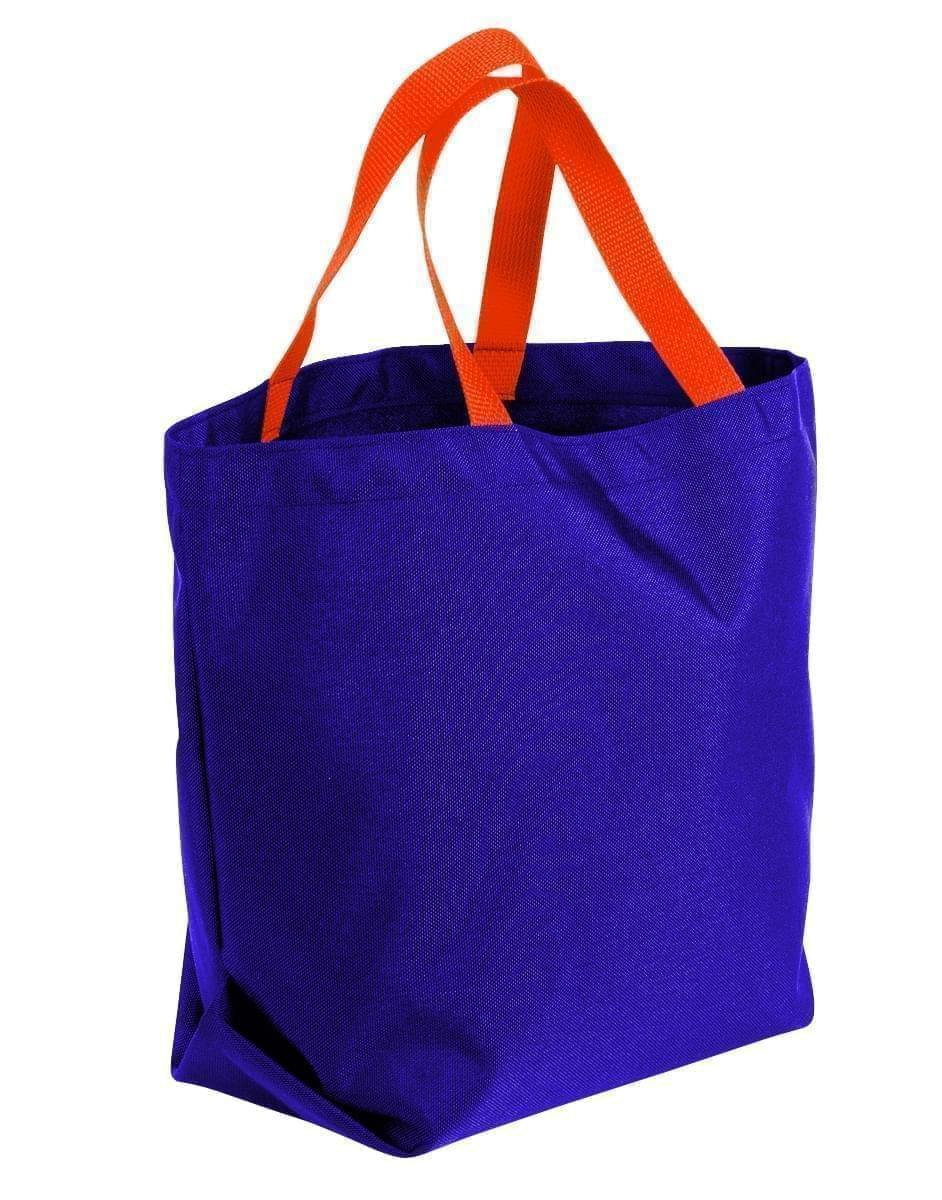 USA Made Poly Convention Expo Tote Bags, Purple-Orange, 2BAD31UAY0