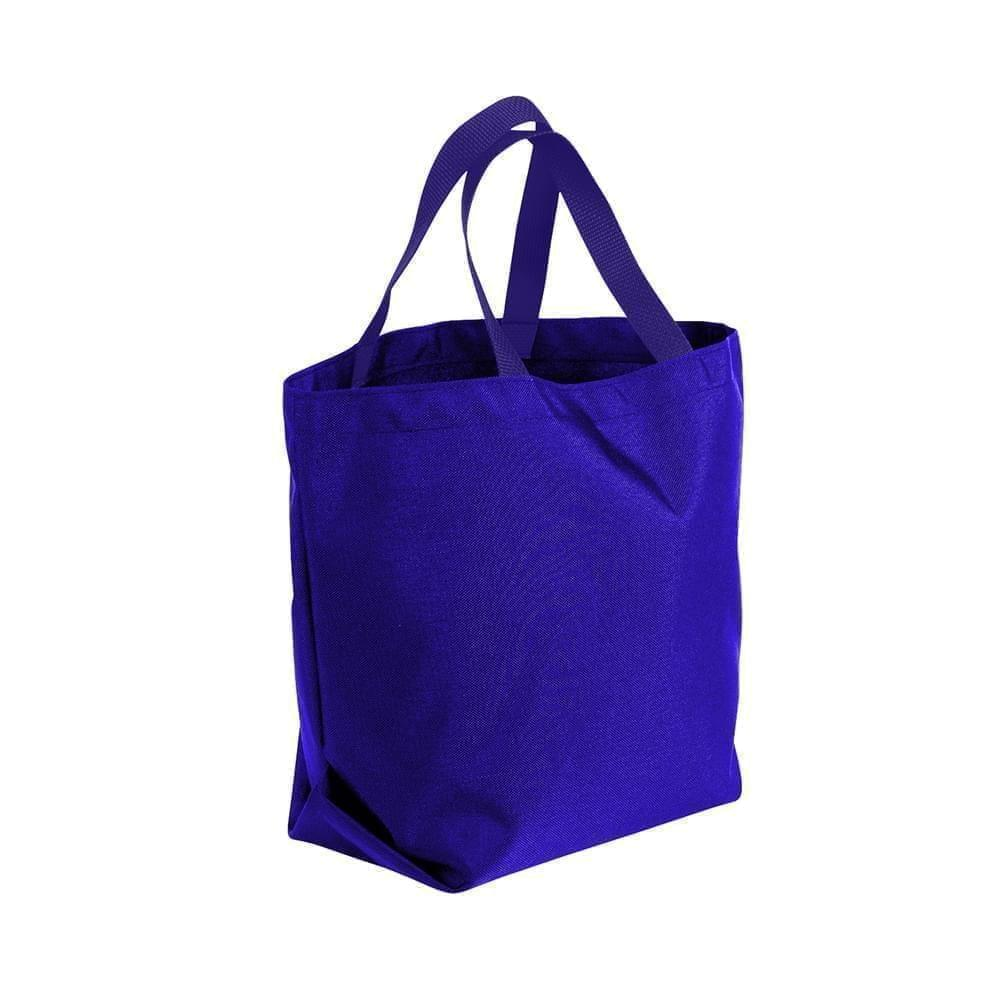 USA Made Poly Convention Expo Tote Bags, Purple-Purple, 2BAD31UAY1