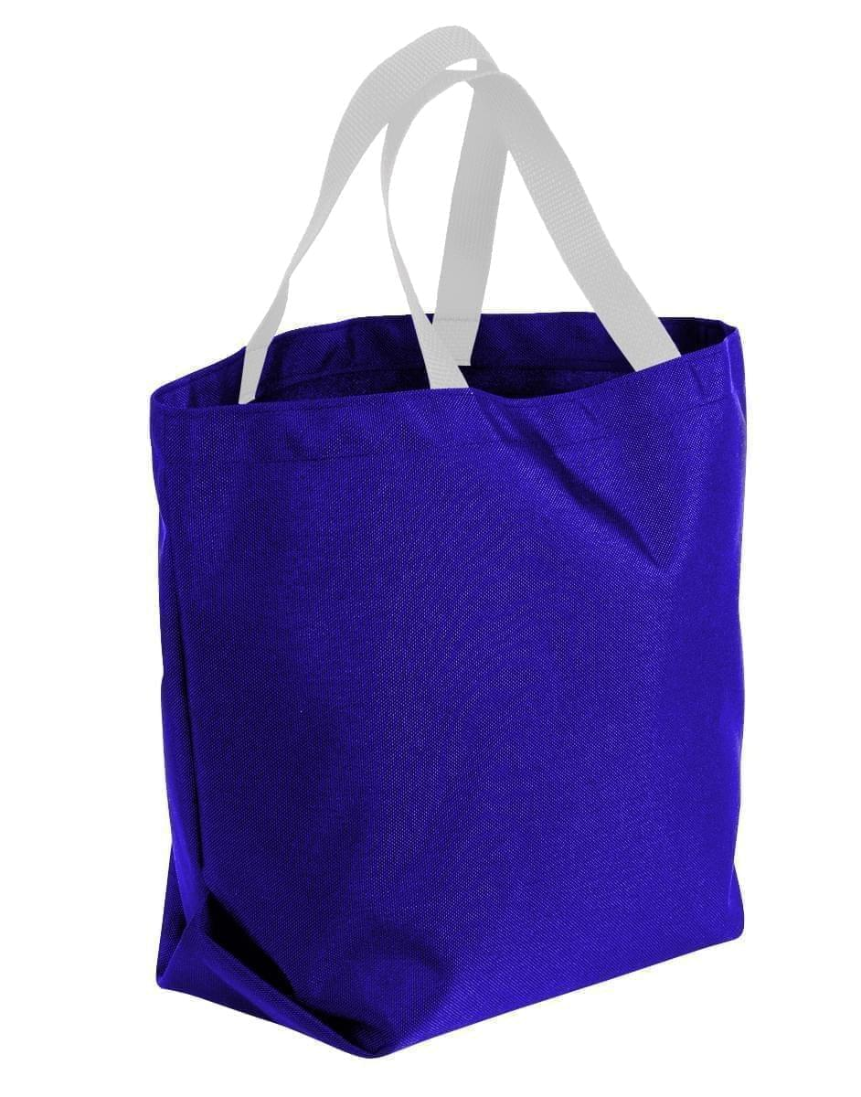 USA Made Poly Convention Expo Tote Bags, Purple-White, 2BAD31UAY4