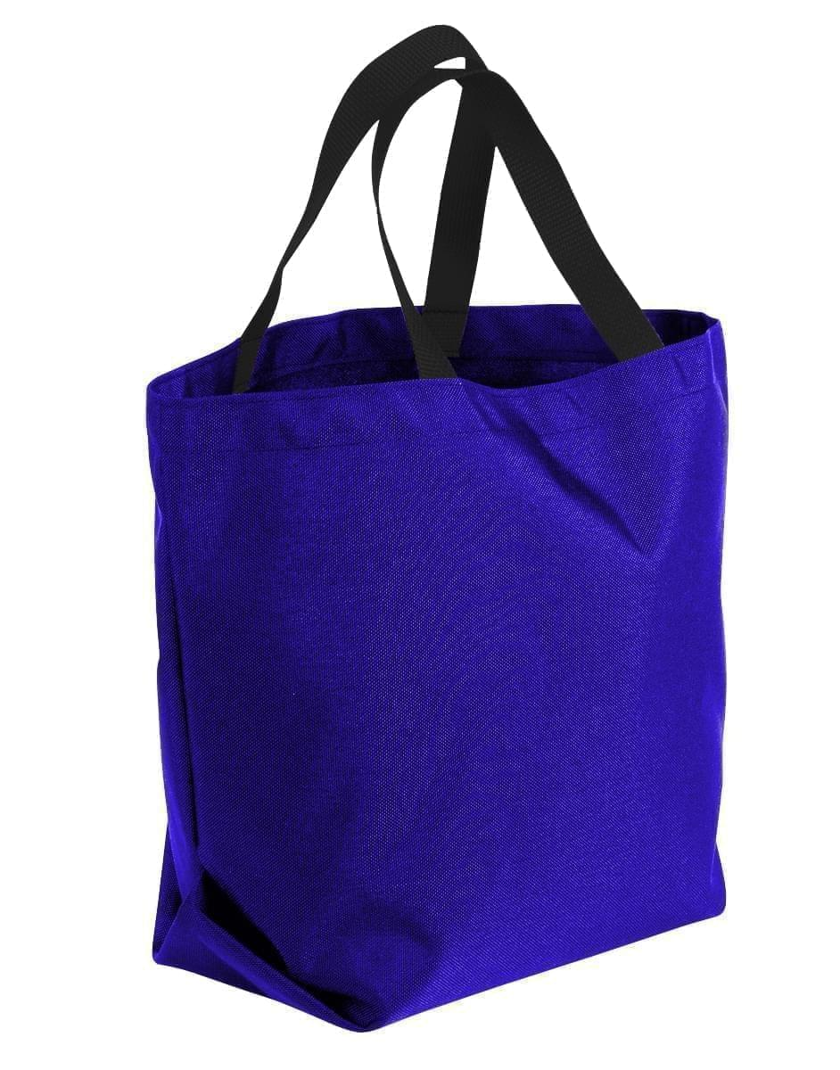 USA Made Poly Convention Expo Tote Bags, Purple-Black, 2BAD31UAYR