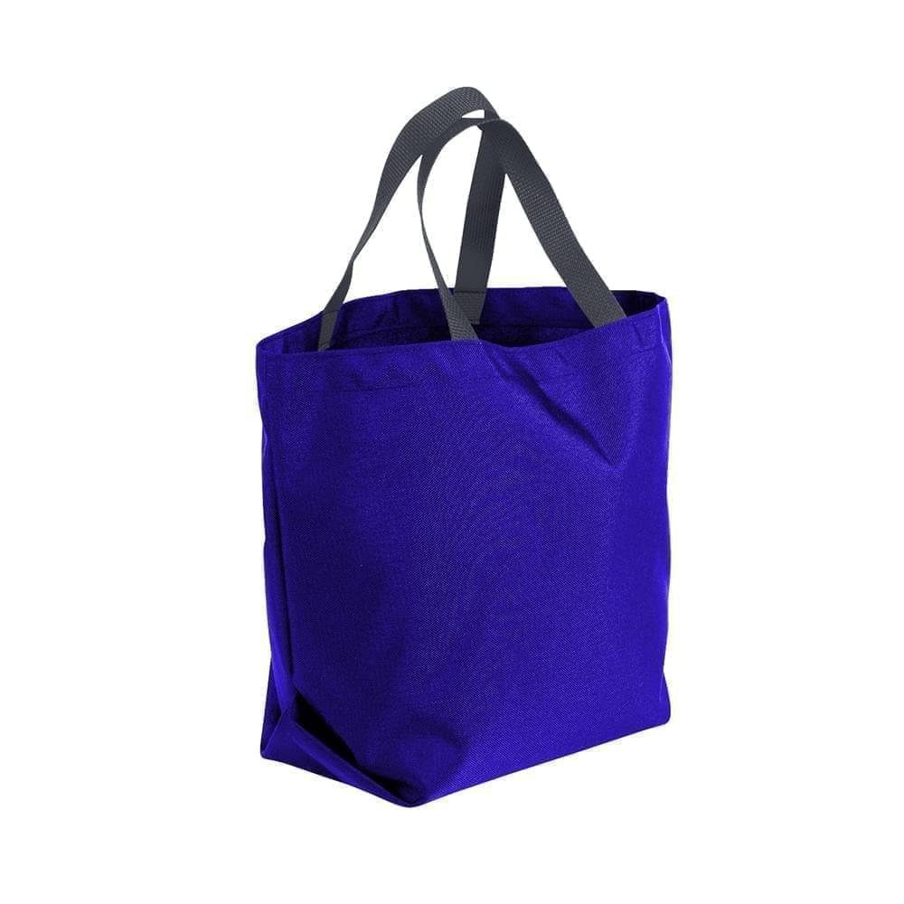 USA Made Poly Convention Expo Tote Bags, Purple-Graphite, 2BAD31UAYT