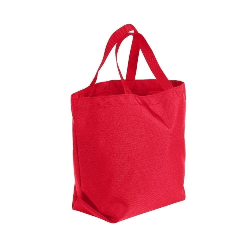 USA Made Poly Convention Expo Tote Bags, Red-Red, 2BAD31UAZ2