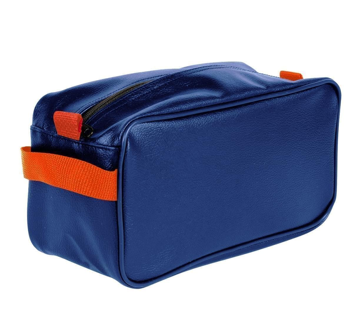 USA Made Cosmetic & Toiletry Cases, Royal Blue-Orange, 3000996-A00