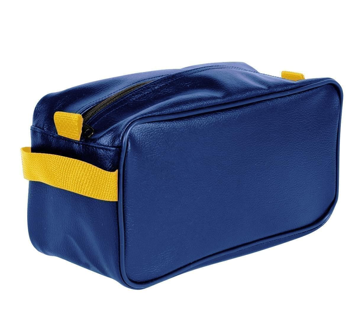 USA Made Cosmetic & Toiletry Cases, Royal Blue-Gold, 3000996-A05