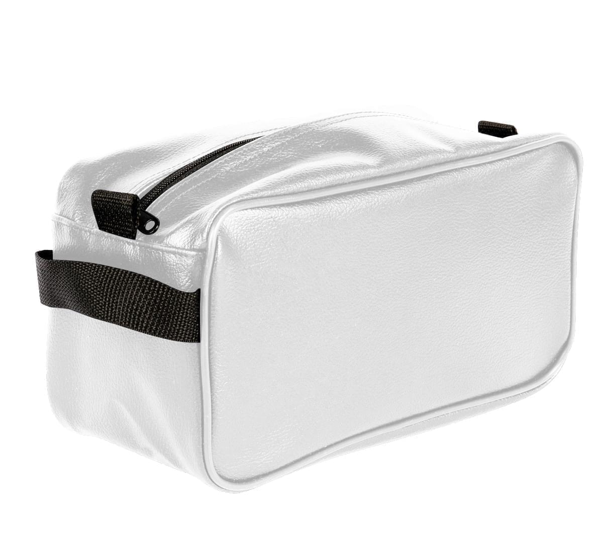 USA Made Cosmetic & Toiletry Cases, White-Black, 3000996-A3R
