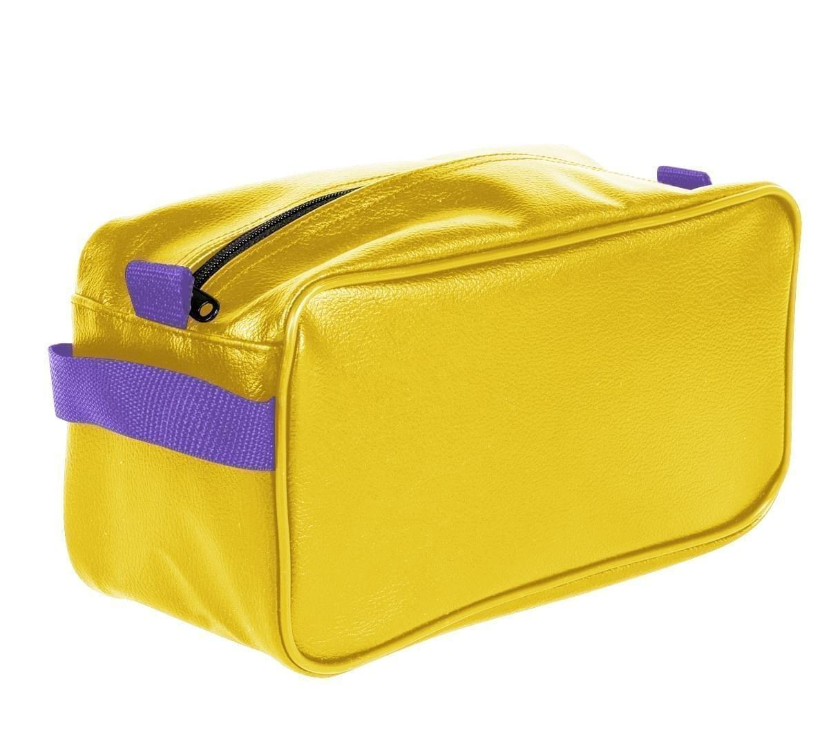 USA Made Cosmetic & Toiletry Cases, Gold-Purple, 3000996-A41