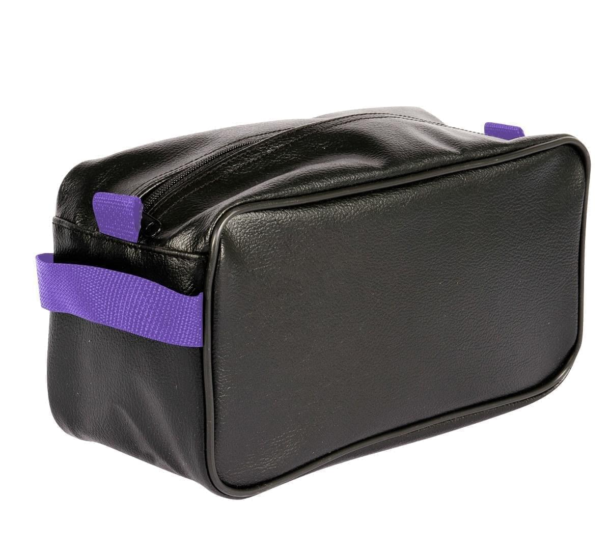 USA Made Cosmetic & Toiletry Cases, Black-Purple, 3000996-AO1