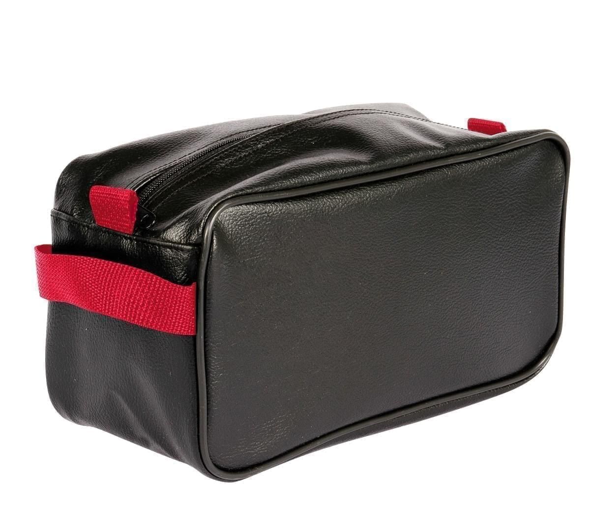 USA Made Cosmetic & Toiletry Cases, Black-Red, 3000996-AO2