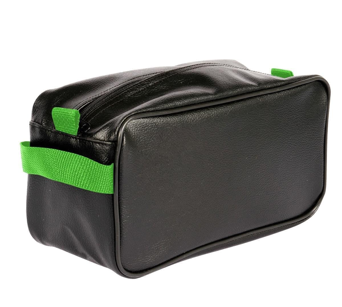 USA Made Cosmetic & Toiletry Cases, Black-Lime, 3000996-AOY