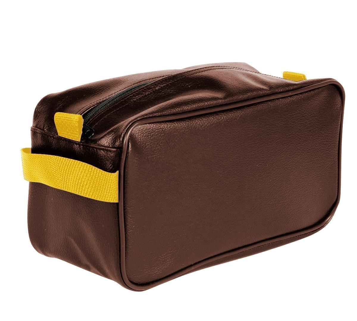 USA Made Cosmetic & Toiletry Cases, Brown-Gold, 3000996-AP5