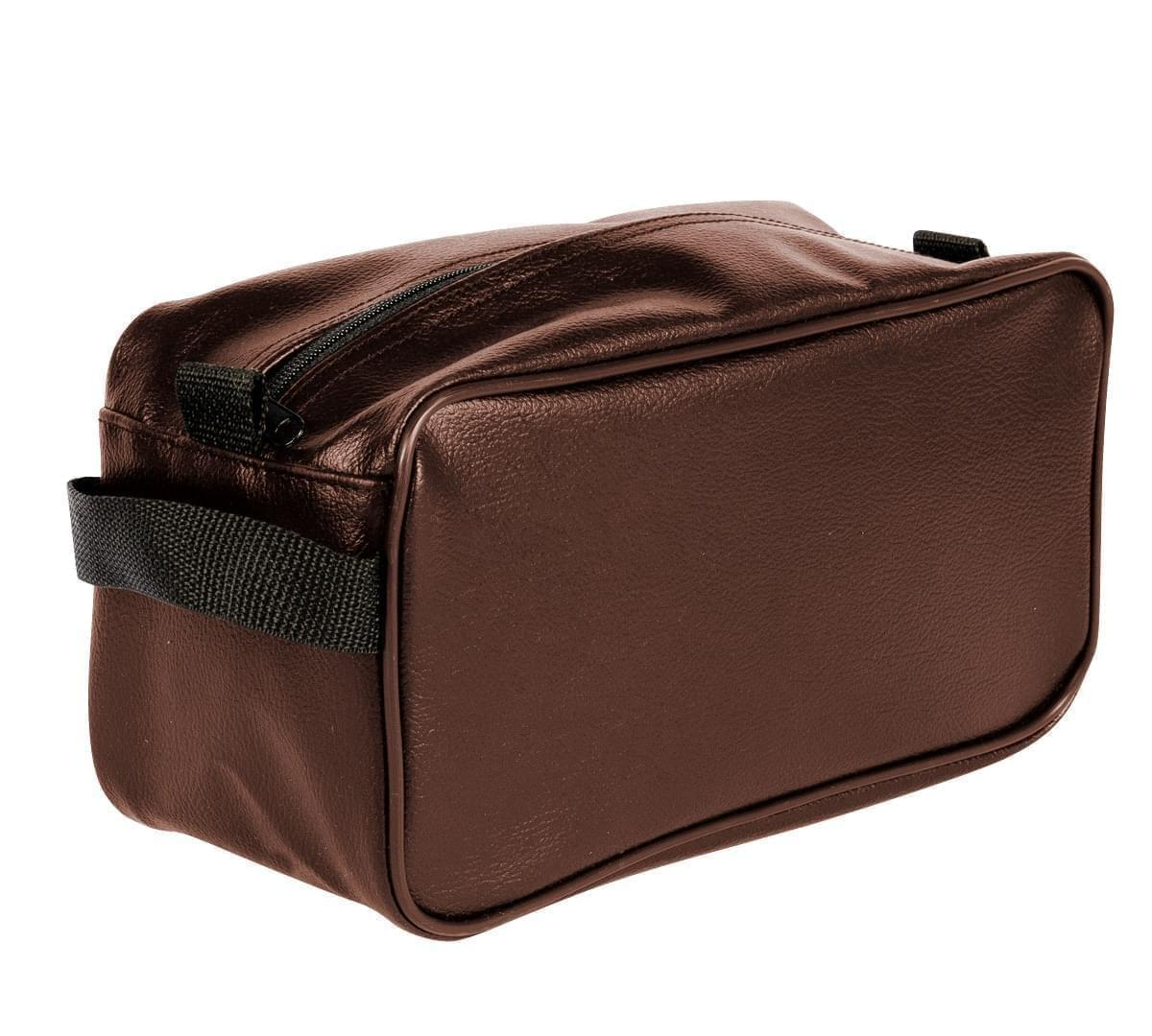 USA Made Cosmetic & Toiletry Cases, Brown-Black, 3000996-APR