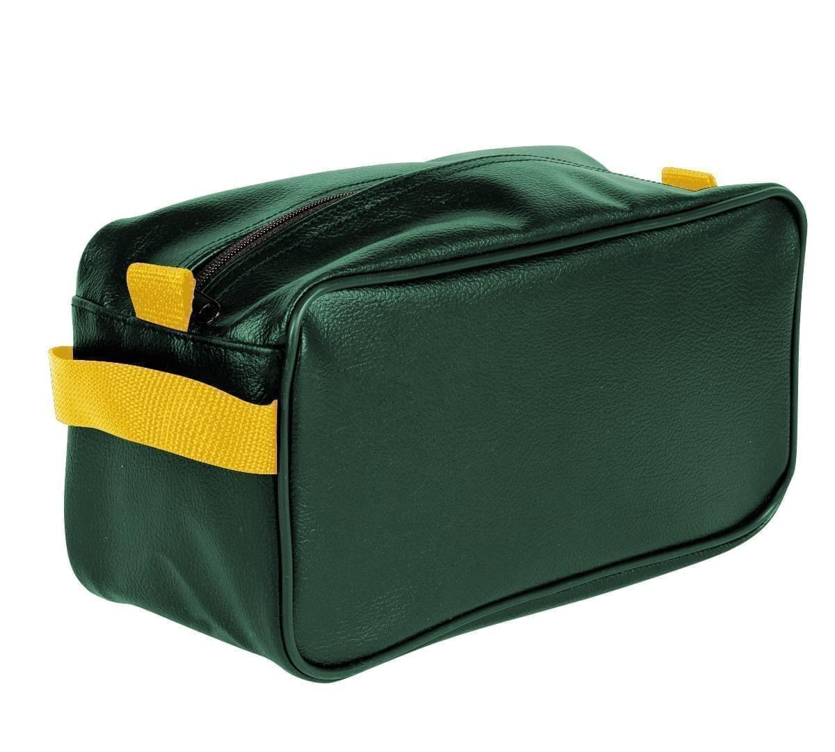 USA Made Cosmetic & Toiletry Cases, Hunter Green-Gold, 3000996-AS5