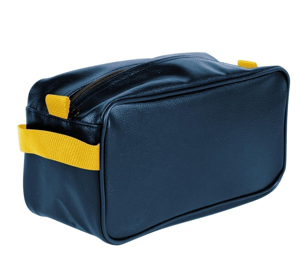 USA Made Cosmetic & Toiletry Cases, Navy-Gold, 3000996-AW5