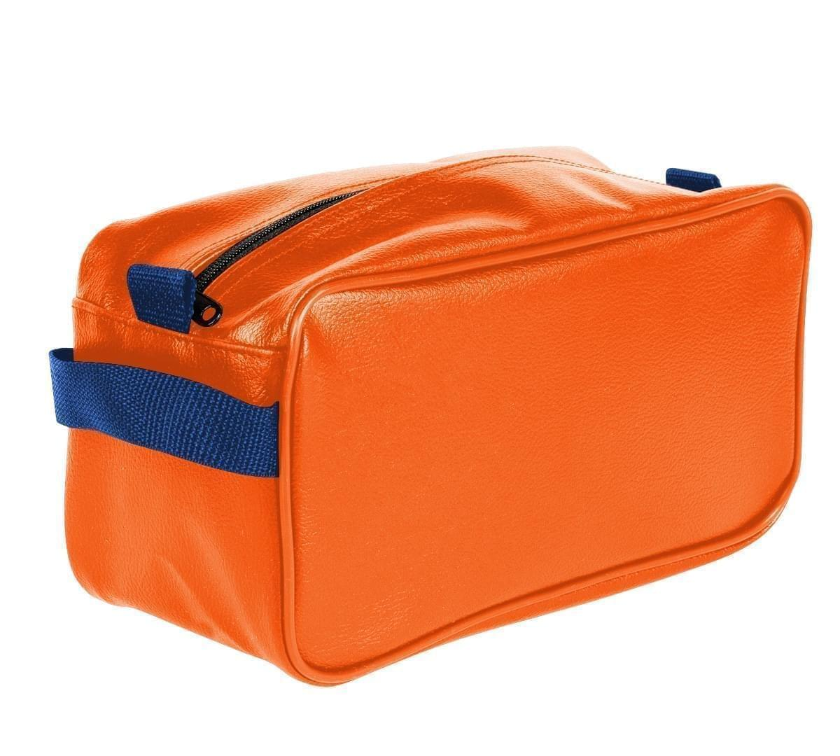 USA Made Cosmetic & Toiletry Cases, Orange-Royal Blue, 3000996-AX3