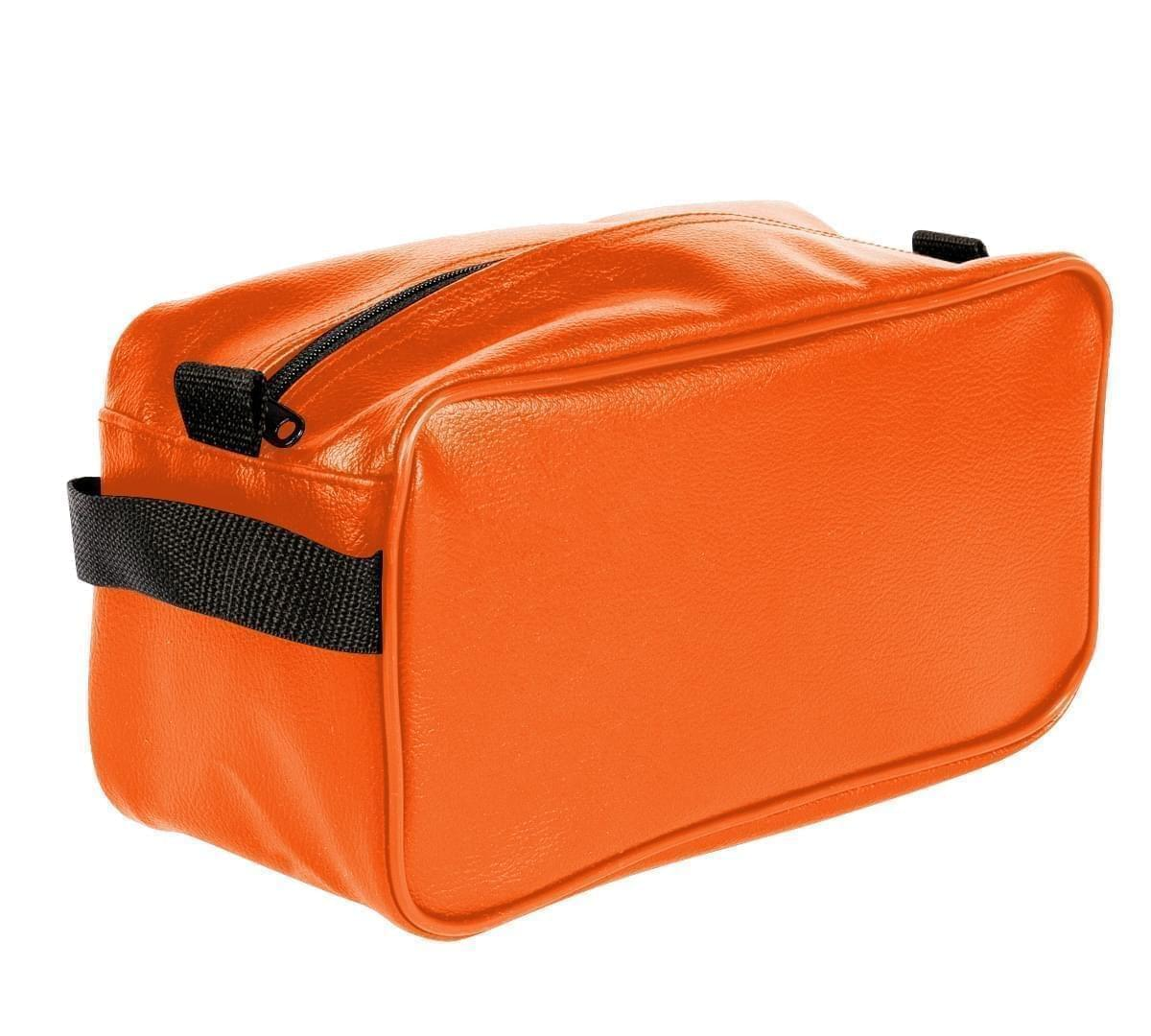 USA Made Cosmetic & Toiletry Cases, Orange-Black, 3000996-AXR
