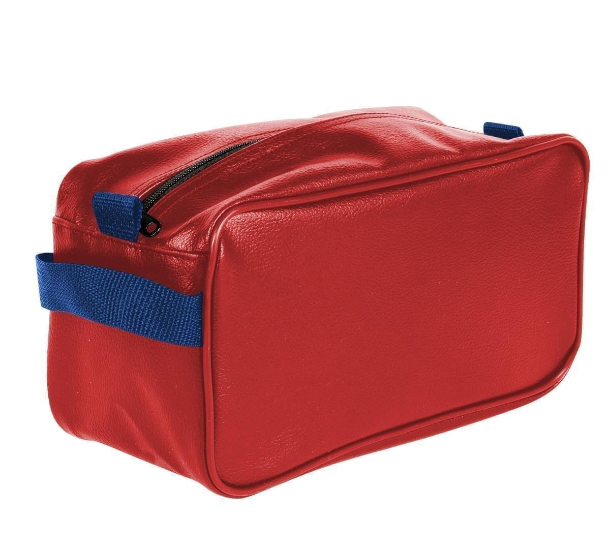 USA Made Cosmetic & Toiletry Cases, Red-Royal Blue, 3000996-AZ3