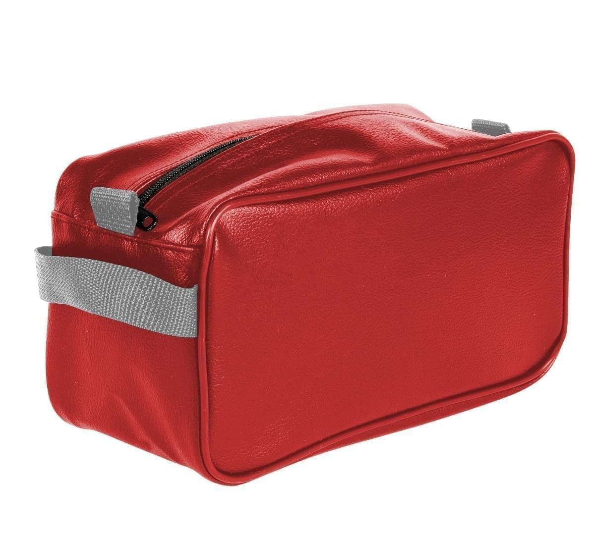USA Made Cosmetic & Toiletry Cases, Red-Grey, 3000996-AZU