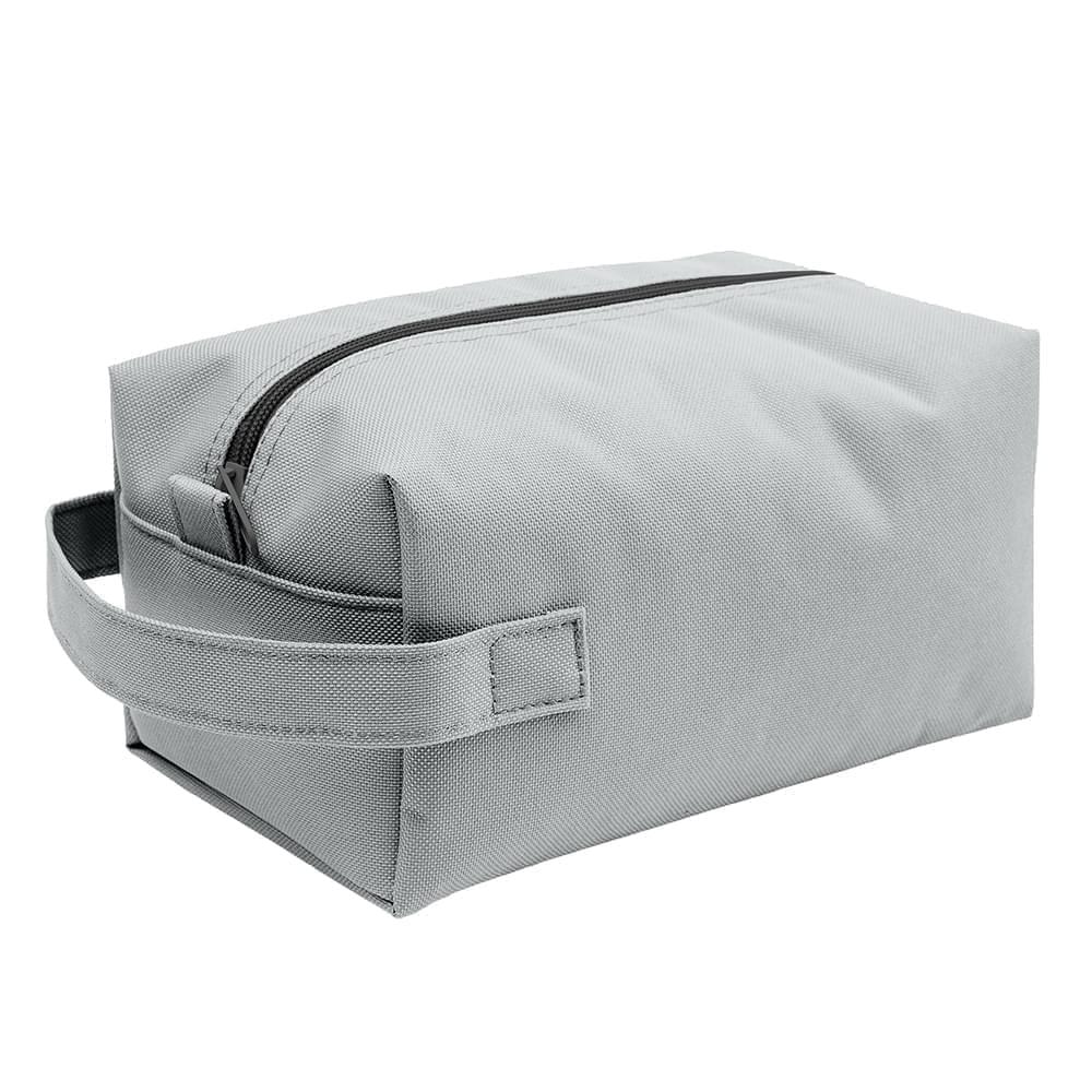 USA Made Nylon Poly Dopp Kits, Gray-Gray, 3001772-A1N