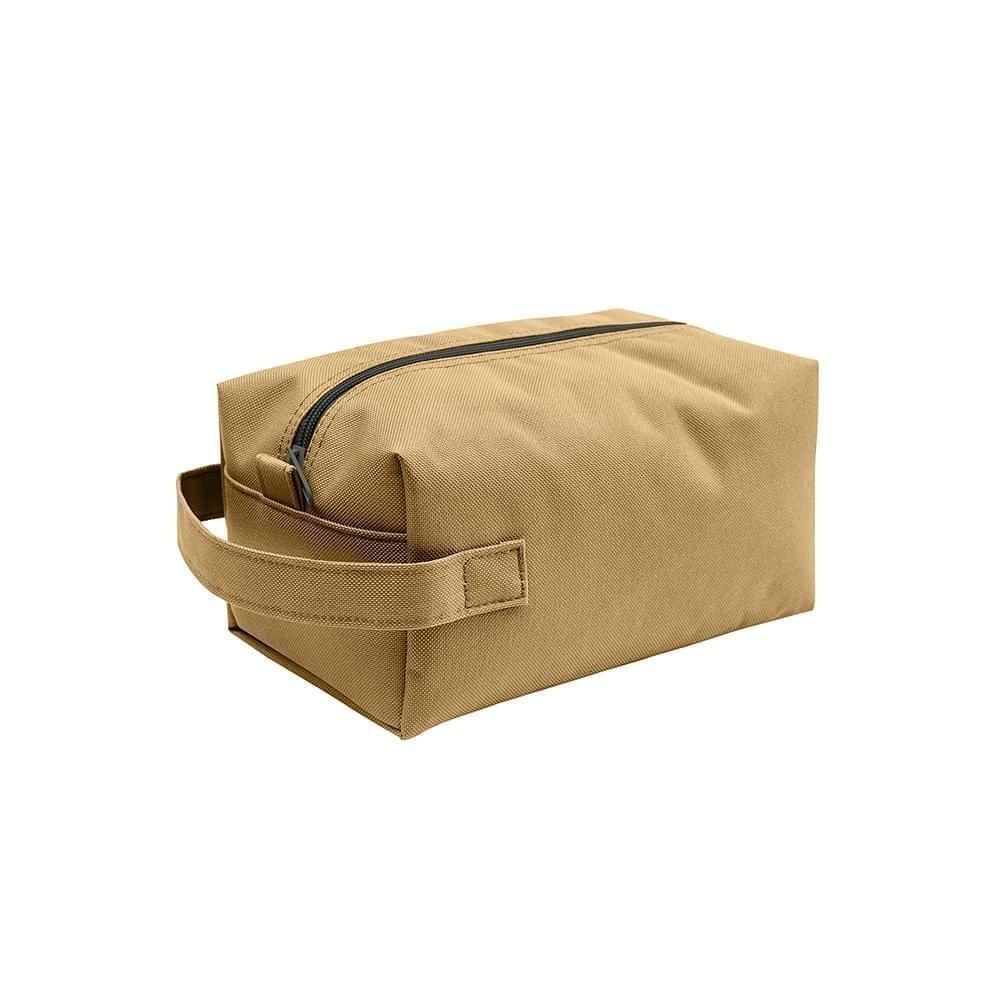 USA Made Nylon Poly Dopp Kits, Khaki-Khaki, 3001772-A2X