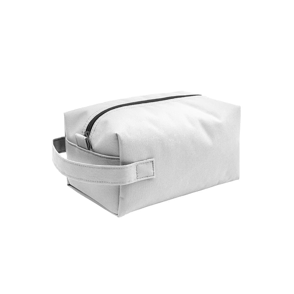 USA Made Nylon Poly Dopp Kits, White-White, 3001772-A3P