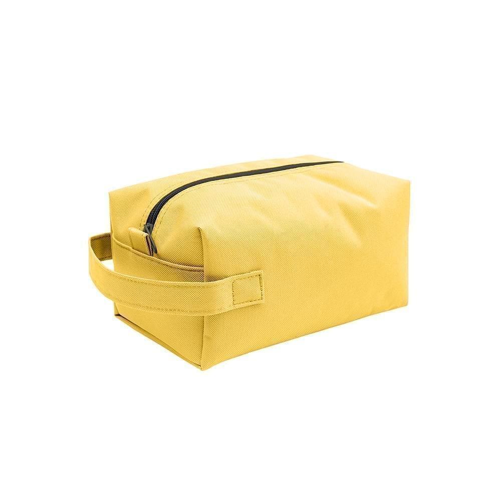 USA Made Nylon Poly Dopp Kits, Gold-Gold, 3001772-A4Q