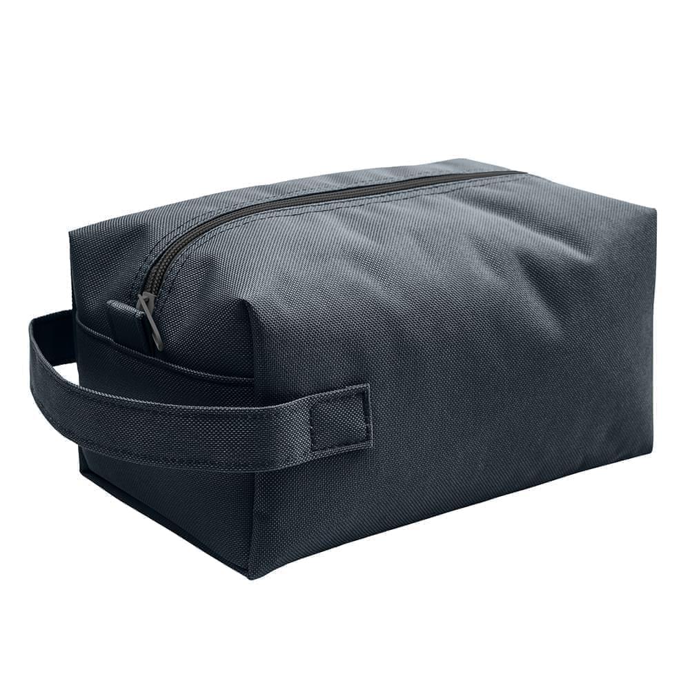 USA Made Nylon Poly Dopp Kits, Black-Black, 3001772-AOC