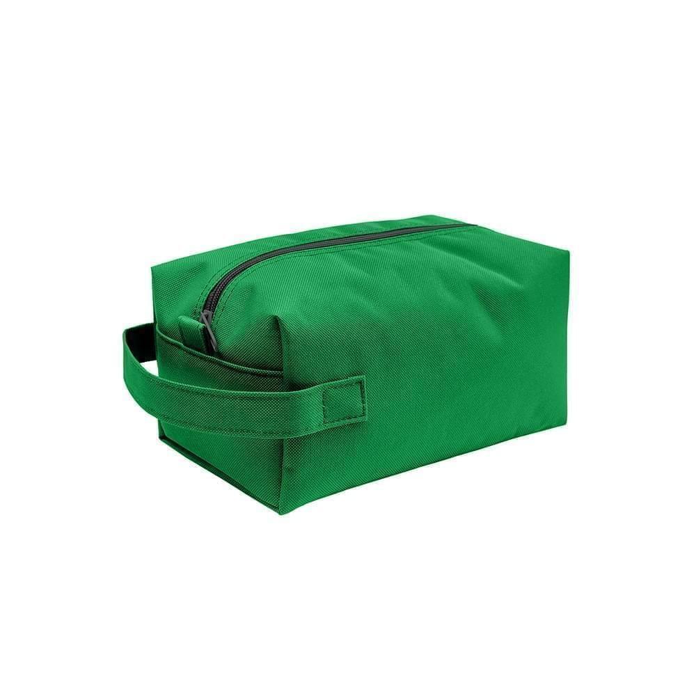 USA Made Nylon Poly Dopp Kits, Kelly-Kelly, 3001772-ATH