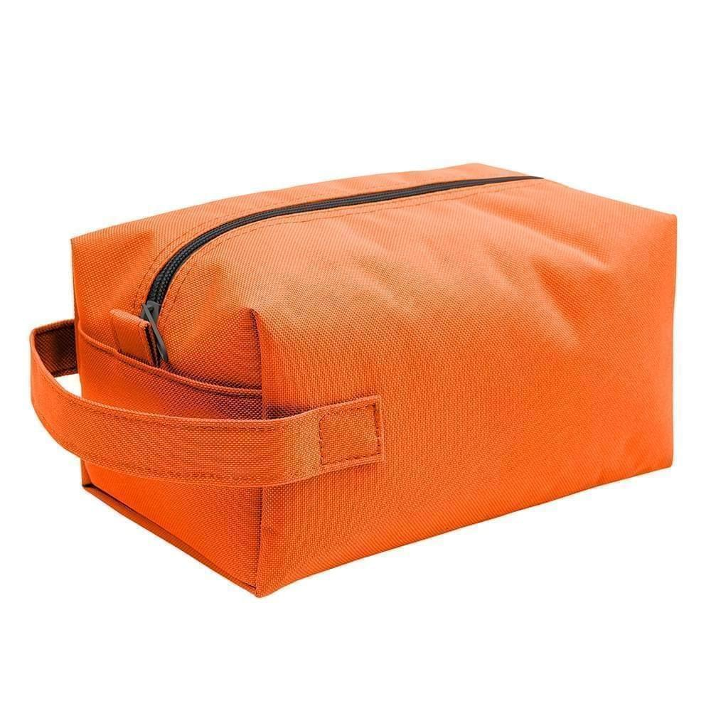 USA Made Nylon Poly Dopp Kits, Orange-Orange, 3001772-AXJ