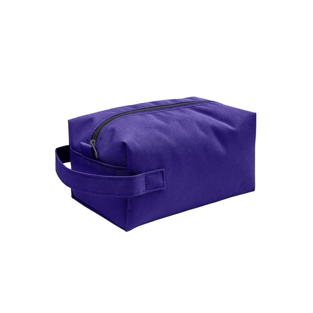 USA Made Nylon Poly Dopp Kits, Purple-Purple, 3001772-AYK