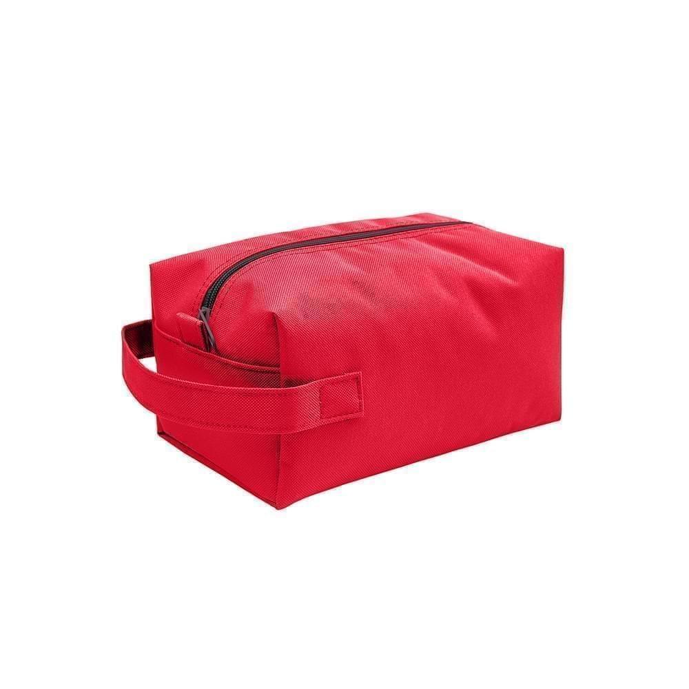 USA Made Nylon Poly Dopp Kits, Red-Red, 3001772-AZL