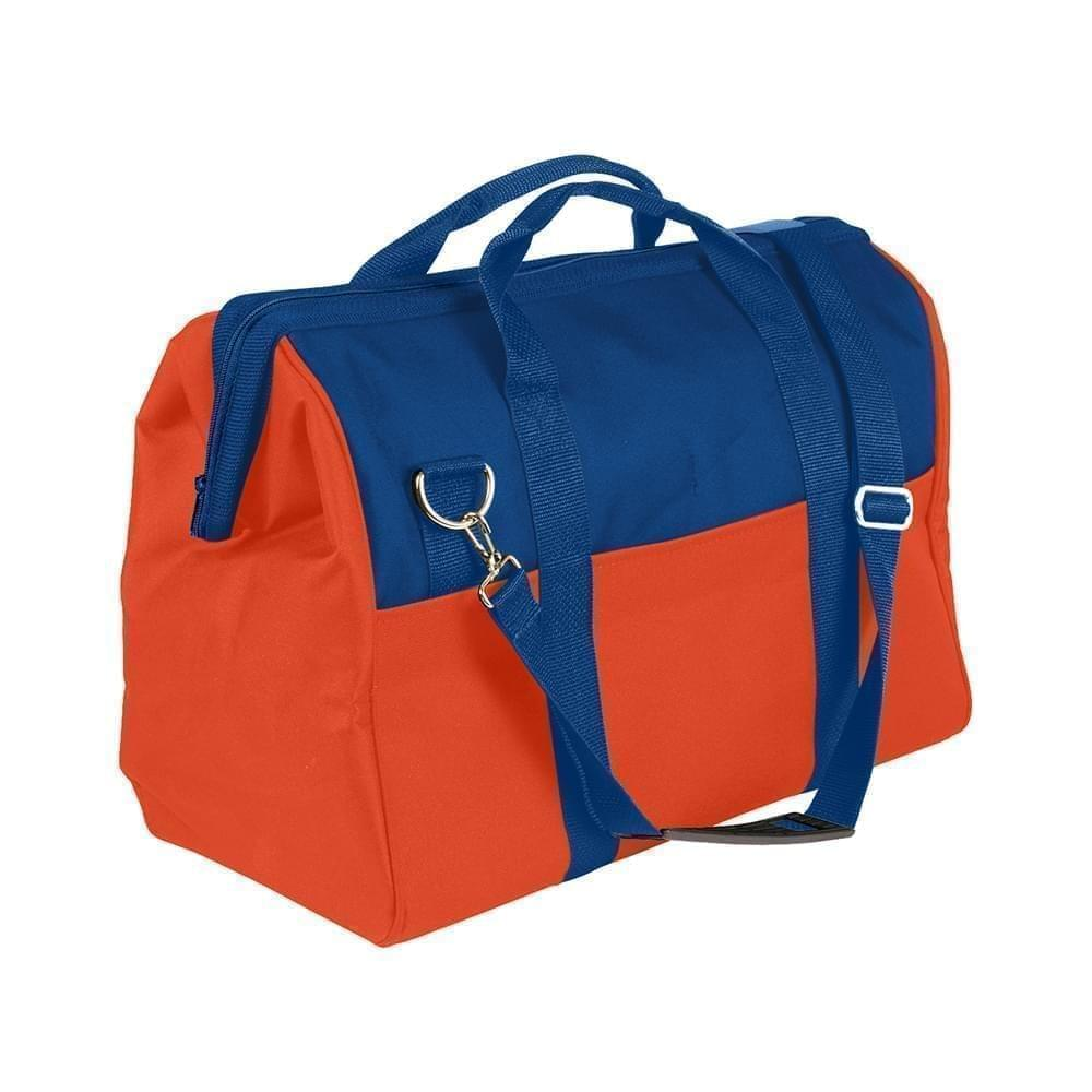 USA Made Nylon Poly Toolbags, Royal Blue-Orange, 4001250-A00