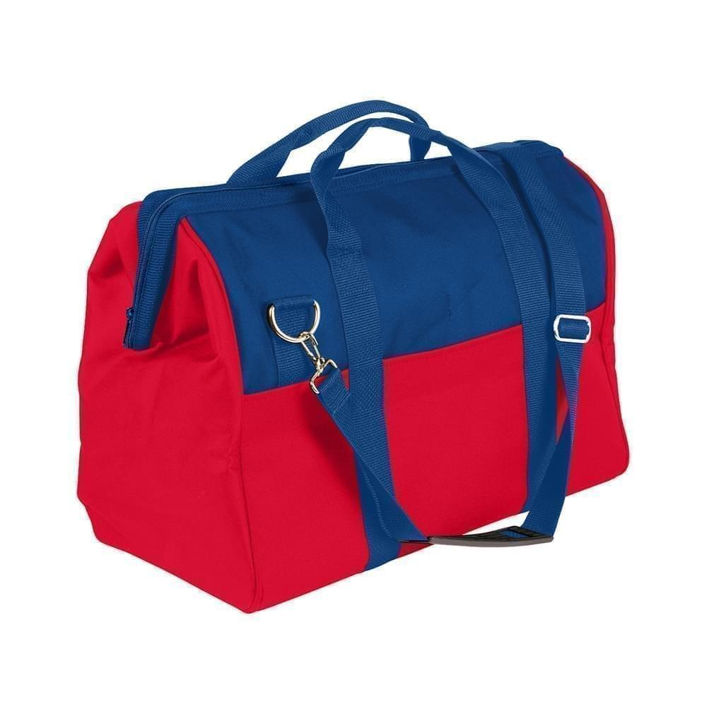 USA Made Nylon Poly Toolbags, Royal Blue-Red, 4001250-A02