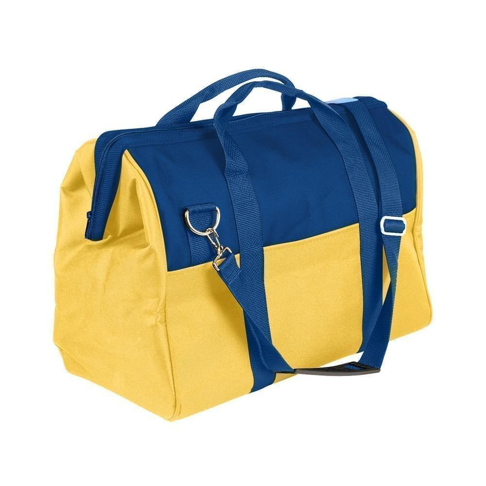 USA Made Nylon Poly Toolbags, Royal Blue-Gold, 4001250-A05
