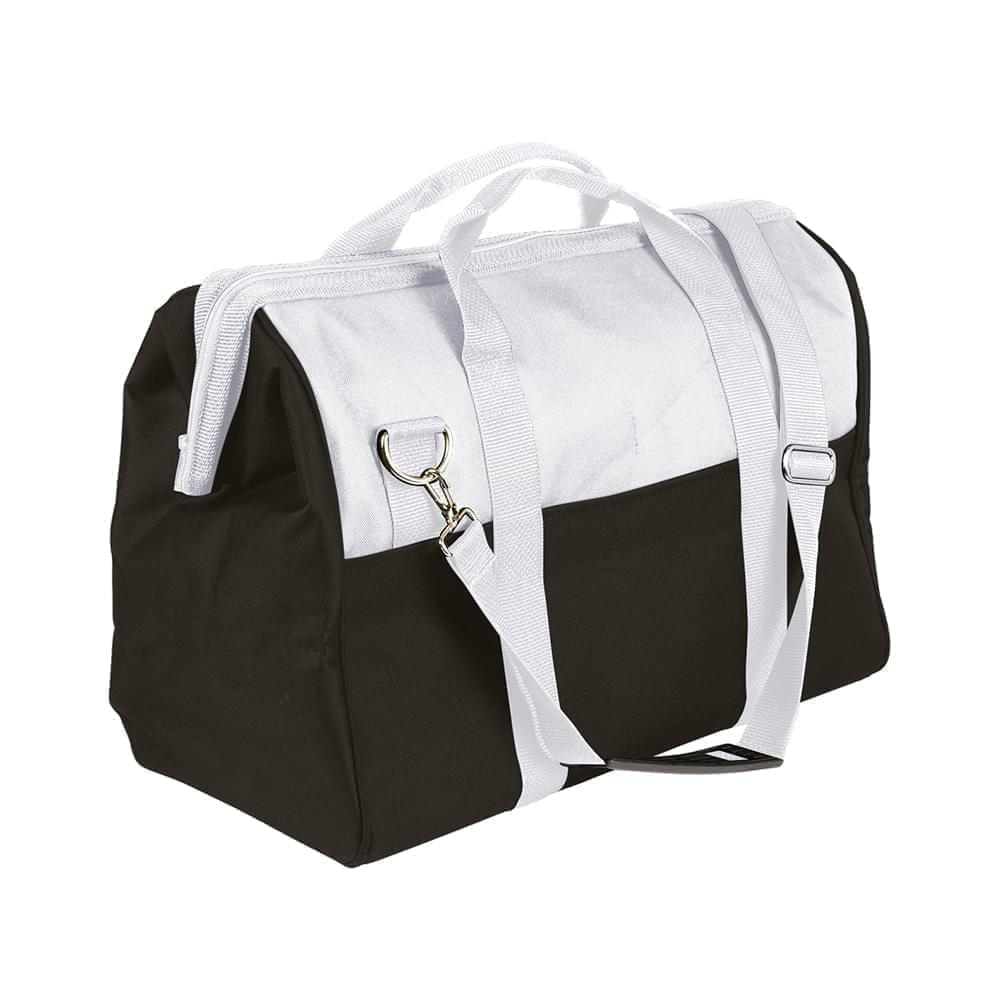 USA Made Nylon Poly Toolbags, White-Black, 4001250-A3R
