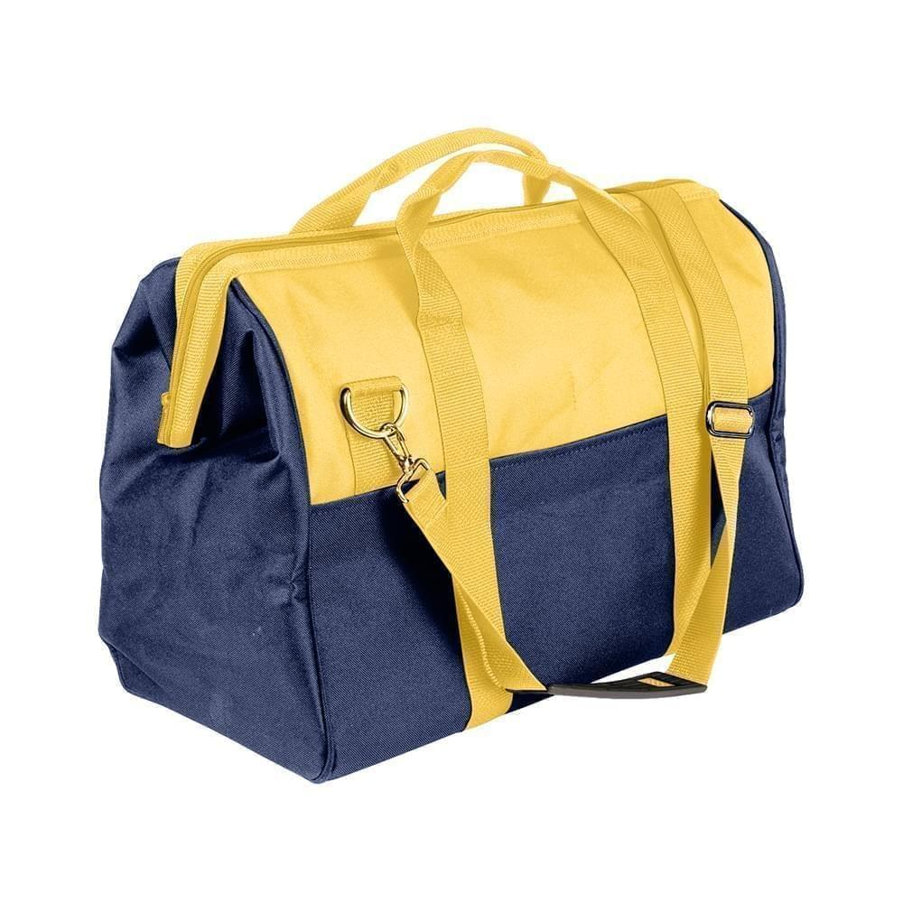 USA Made Nylon Poly Toolbags, Gold-Navy, 4001250-A4Z