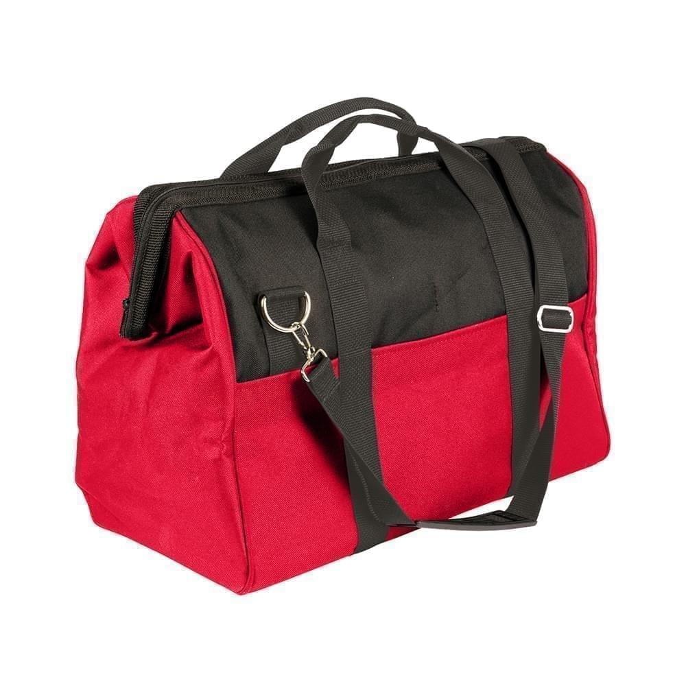USA Made Nylon Poly Toolbags, Black-Red, 4001250-AO2