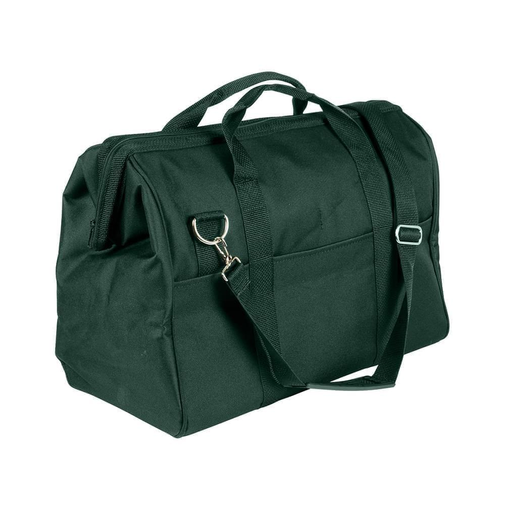 USA Made Nylon Poly Toolbags, Black-Hunter Green, 4001250-AOV