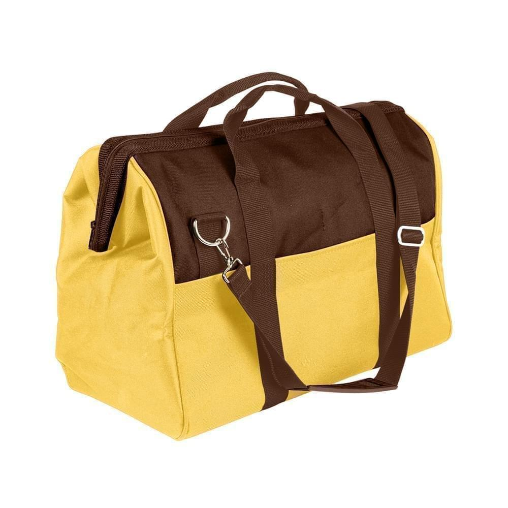 USA Made Nylon Poly Toolbags, Brown-Gold, 4001250-AP5