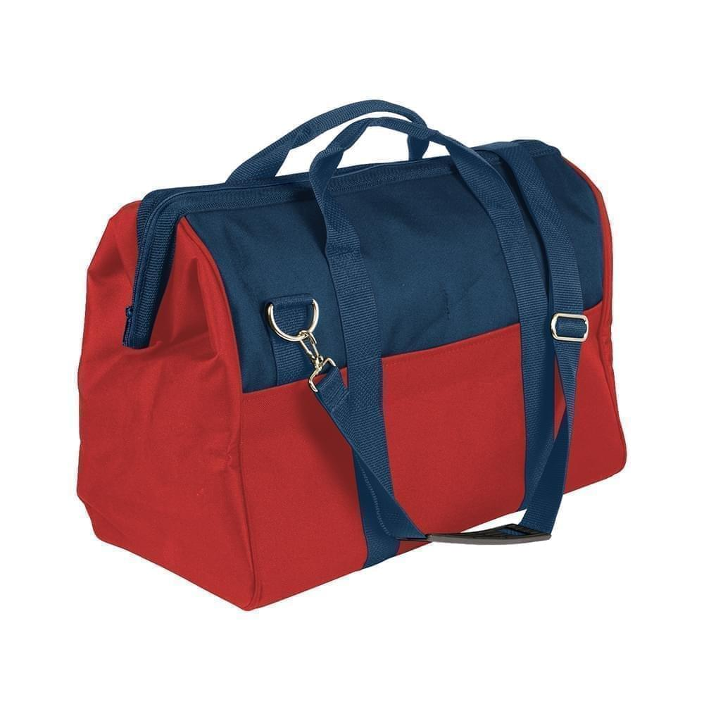 USA Made Nylon Poly Toolbags, Navy-Red, 4001250-AW2