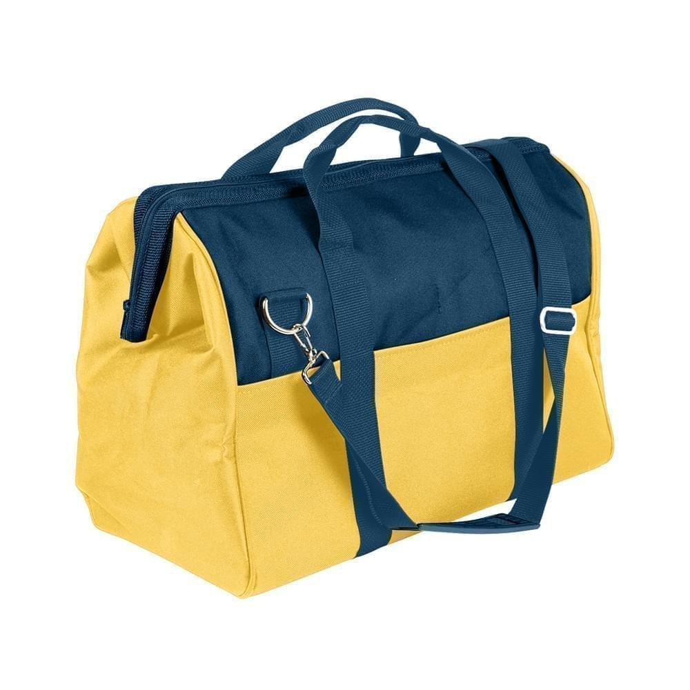 USA Made Nylon Poly Toolbags, Navy-Gold, 4001250-AW5