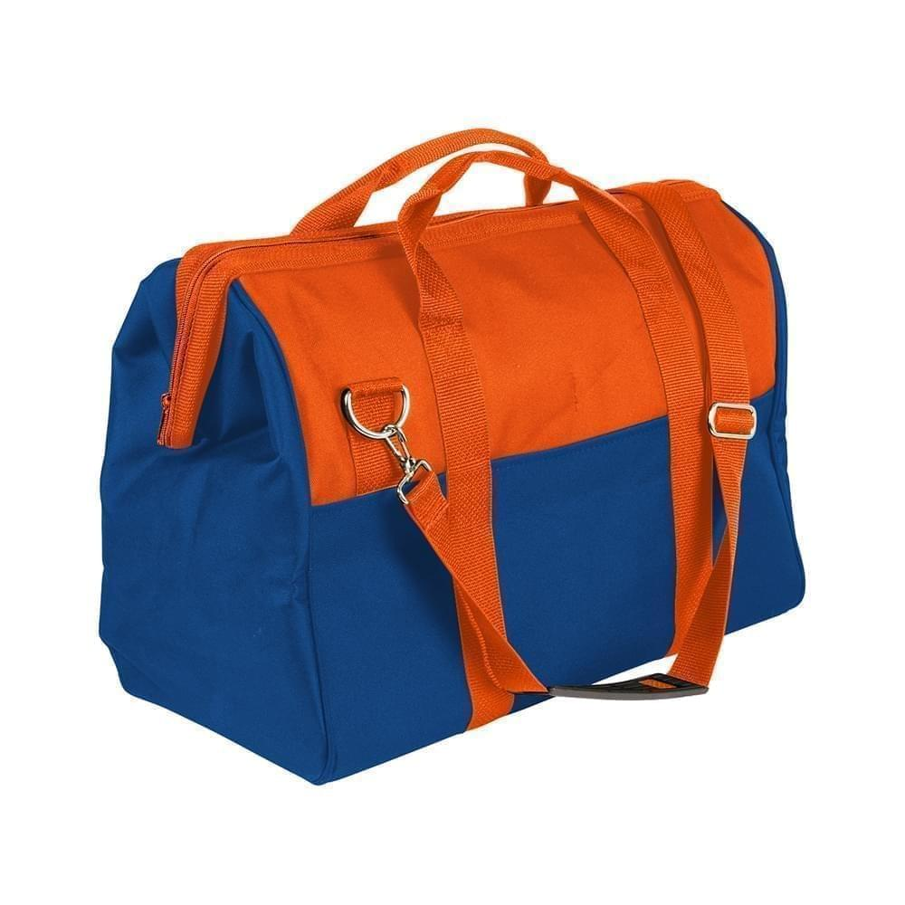 USA Made Nylon Poly Toolbags, Orange-Royal Blue, 4001250-AX3