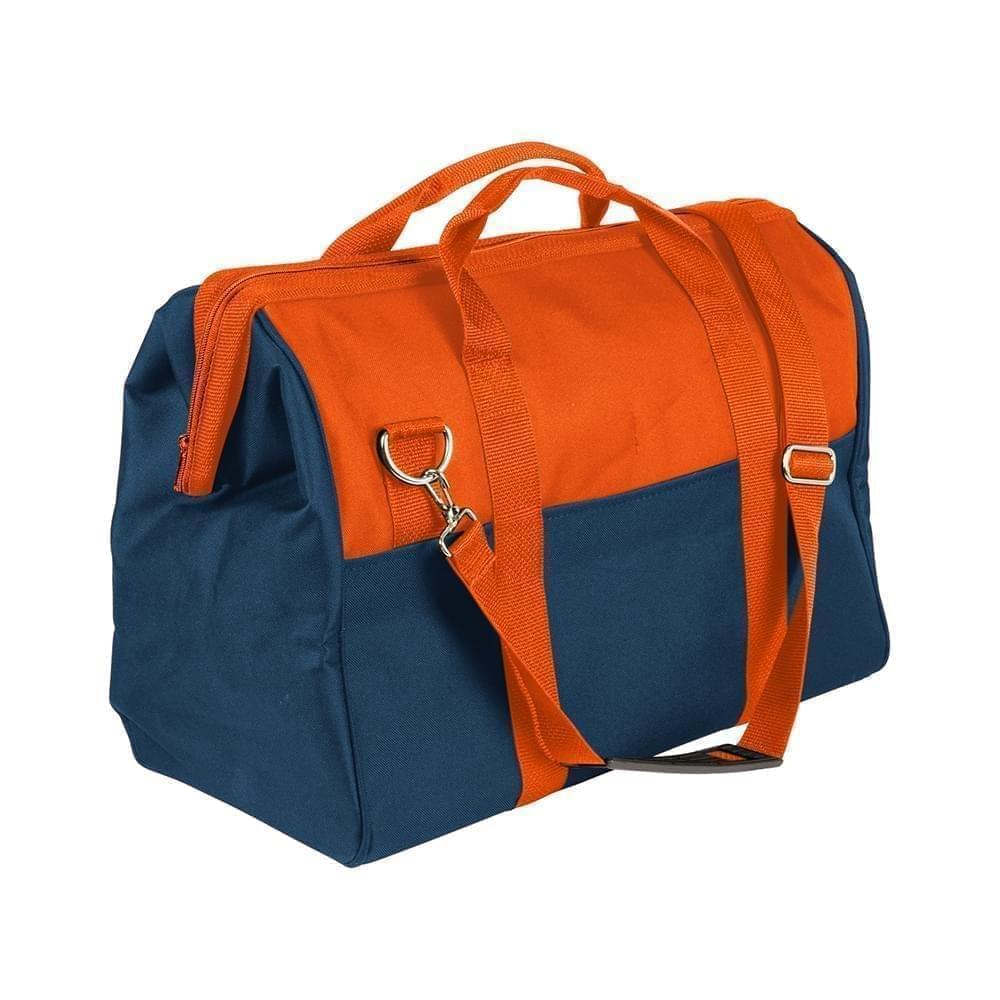 USA Made Nylon Poly Toolbags, Orange-Navy, 4001250-AXZ