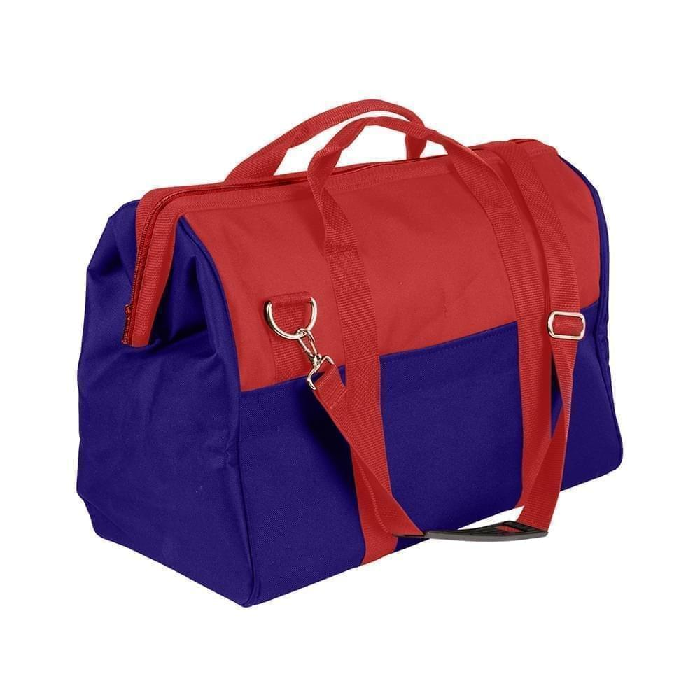 USA Made Nylon Poly Toolbags, Red-Royal Blue, 4001250-AZ3