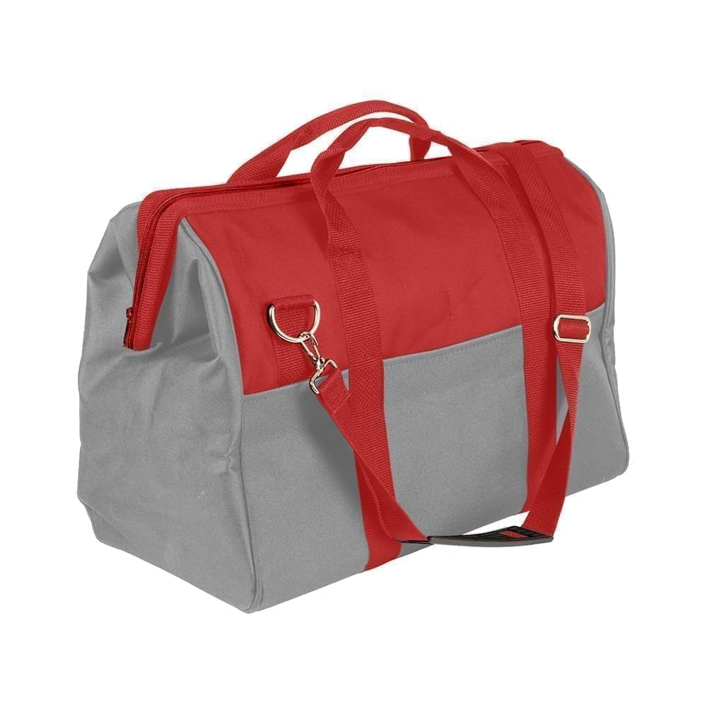 USA Made Nylon Poly Toolbags, Red-Grey, 4001250-AZU