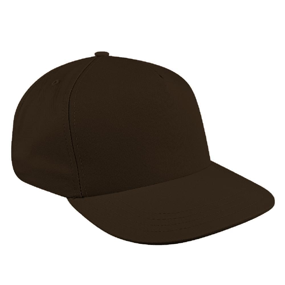 Solid Eyelets Canvas Snapback Skate Hat