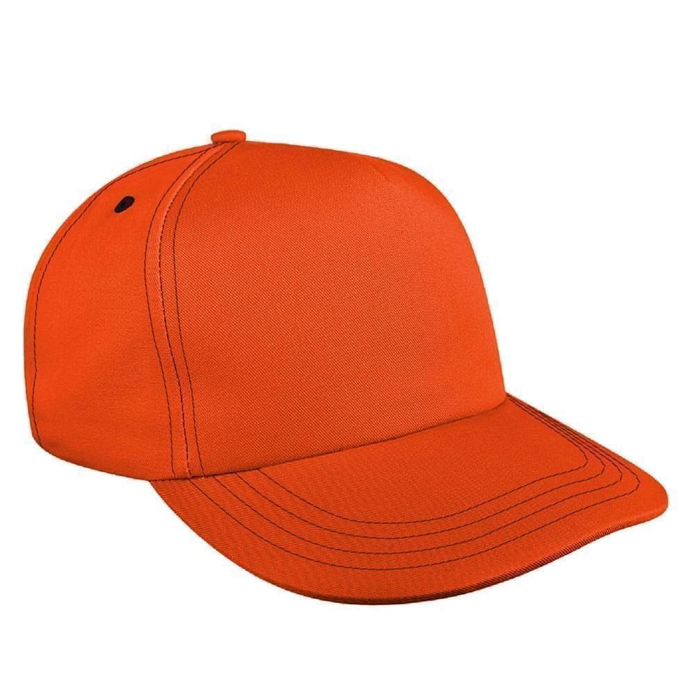 Contrast Stitching Brushed Slide Buckle Skate Hat